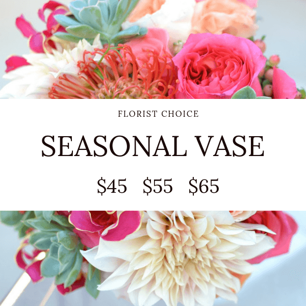 225 & Florist Choice Seasonal Vase
